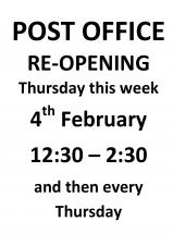 Post Office Reopening